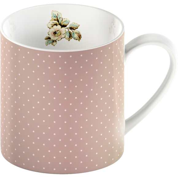Porcelánový hrnček Pink Spots Cottage Flower 250ml